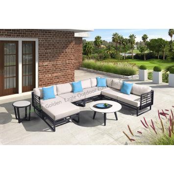 New design garden sofa with HPL table top
