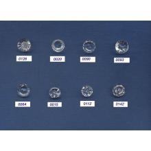 Nouveau design de mode ronde gros boutons de cristal