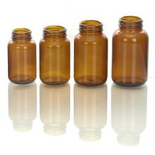 Botella para tabletas, vidrio ámbar
