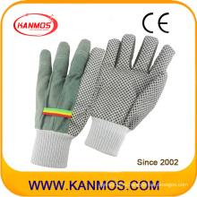 Белые трикотажные ПВХ-точки Промышленные рабочие хлопчатобумажные перчатки (41007)