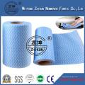 Tissu non tissé en polyester à viscose Polyester Spindlace pour lingettes humides, tissus, masques