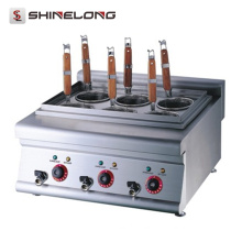K018 Manufacture Stainless Steel Counter Top Pasta Cooker Electric Energy Saving Pasta Cooking Machine