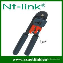 Ferramenta de crimpagem de tubo de aço inoxidável com trava adicional