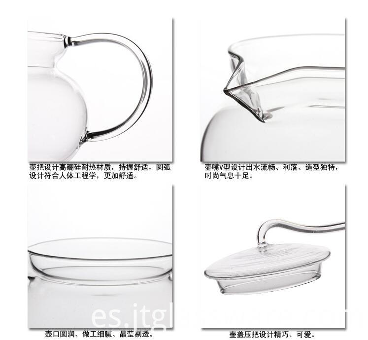 glass teapot details