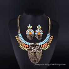 2016 Coloré Bohême Style Crystal Acryl Collier Set