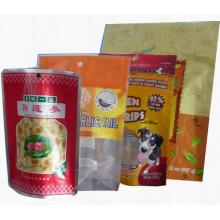 Saco plástico do alimento / empacotamento de alimentos para animais de estimação / malote inferior do alimento do reforço