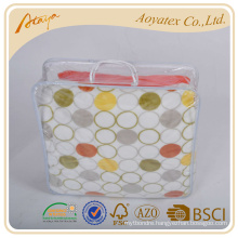 Very soft and colorful flannel fleece bed sheet