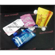 Alimentos reutilizáveis pouched com plástico ziplock matrial / china fabricante de saco de embalagens plásticas