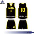 Vêtement de basket-ball personnalisé coupé et cousu