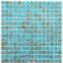Mosaïque en verre bleu clair