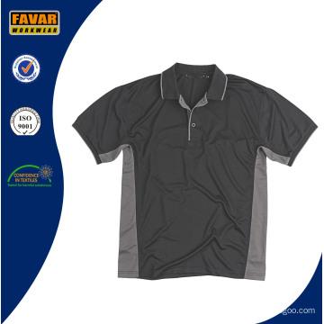 China Fábrica Custom Design 100% Poliéster Trabalho Camisa Polo para Homens