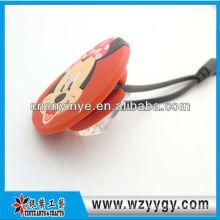 Modificado para requisitos particulares lindo promocional suave del pvc cable organizador con clip