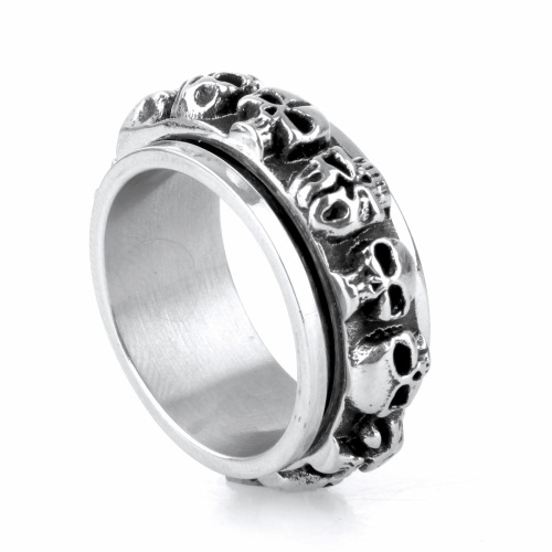 Wholesale New design steel skull ring