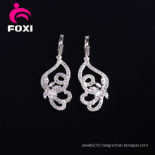 Latest Design Butterfly Handing Earrings with Gemstone