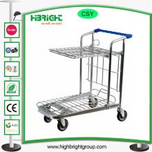 Chariot à achats pliable de main de stockage d'entrepôt de 200kg