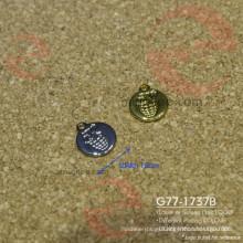 Metal Brass or Iron Hanging Engraved Round Circle Tag Plate