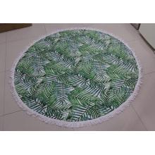 Serviette de plage ronde d'impression de mandala pleine grandeur faite sur commande de microfibre de polyester