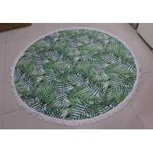 Polyester Microfiber Custom Full Size Mandala Print Round Beach Towel