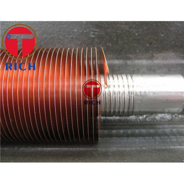 Extruded Embedded Type Heat Exchanger Copper Fin Tube