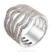 Fashion Silver Ring CZ Stone