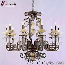 Retro Crystal Hotel Decorative pendant Lamp with Antique Brass