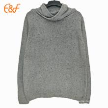 Personnalisé Mens Cowl Neck Plain Sweaters Streetwear