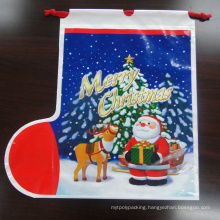 Printing PE Gift Plastic Bag with Rope