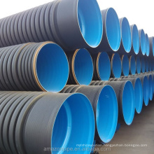 Factory hot sale hdpe double wall corrugated pe drainage sewage pipe in stock