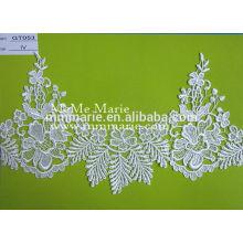 Fabrikart und weise Polyester wasserlösliches Spitzegewebe mit vielen Farben GT053