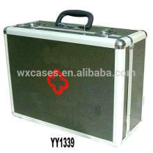 suitcase-style aluminum medical case with PVC leather skin