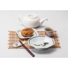 Vaisselle 100% mélamine-assiette à dessert / assiette carrée (4105)