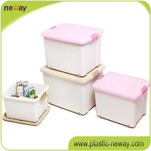 Manufacture 96L Plastic PP Storage Box Container with Wave