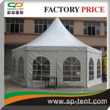 tent hexagonal with strong aluminum frame in hexagon shape for outdoor event