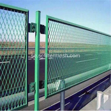 Pulverlackerad Diamond Expanded Metal Mesh Fence
