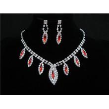 Afrikanische rote purpurrote blaue Partei-Geschenk späteste Korn-Halsketten-Ohr-Ring