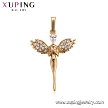 31455 Xuping personalized 18k gold pendant pave Synthetic CZ gemstones for women jewelry