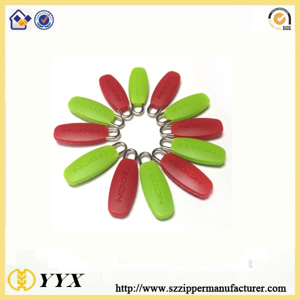 silicone zipper puller for bags