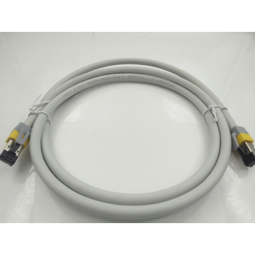 Cabo de rede Ethernet de 24AWG 8.0mm CAT8