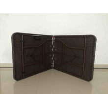 6FT Hot Sale Outdooor Chocolate Rattan Design Plastic Folding Table