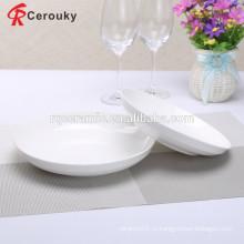 BSCI SEDEX одобрил оптовые белые фарфоровые тарелки
