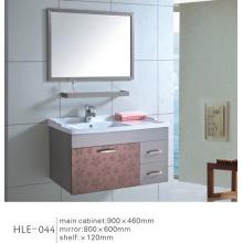 С полкой Зеркальная белая столешница из нержавеющей стали Санитарный шкаф для ванной комнаты