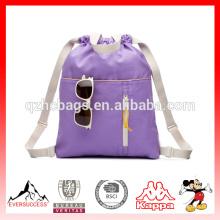 Saco de livro de mochila de cordão para mochila de crianças de crianças de escola