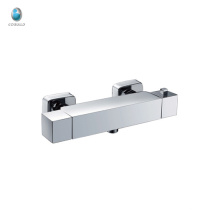 KWM-06 nouveau design carré salle de bain douche et bain coin en laiton massif chromé économiseur d'eau mural mitigeur de douche