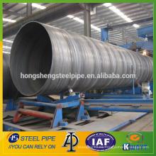 Tubo de acero espiral soldado / API 5L PSL1 GR.B tubo de acero espiral