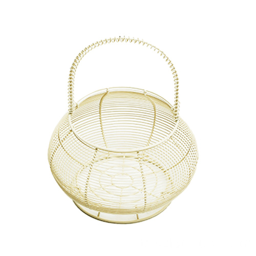 Hot Sale Kitchen Baskets For Organizer Wire Mesh Metal Kitchen Fruit Storage Basket With Hook Chinese Style