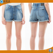 2018 Printemps Femmes Casual Slim Fit Mini Short en Coton Denim