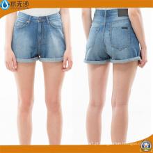2018 Mulheres Primavera Casual Slim Fit Mini Algodão Denim Shorts