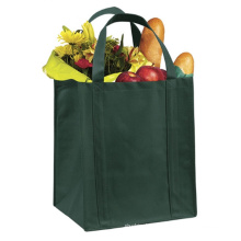 Promotion new superior quality custom logo printed foldable recycled reusable supermarket grocery tote non woven shopping bags