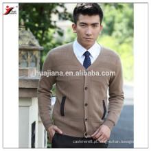Design de moda cashmere tricô casaco masculino