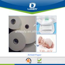 Rolos de papel airlaid de matéria-prima de fralda